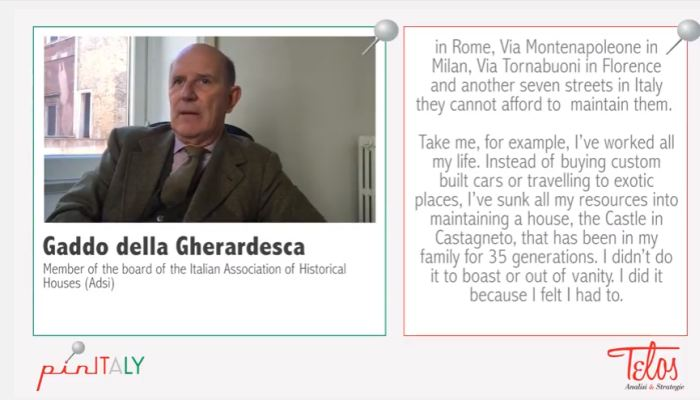 Interview with Gaddo della Gherardescamember of the board of the Italian Association of Historical Houses