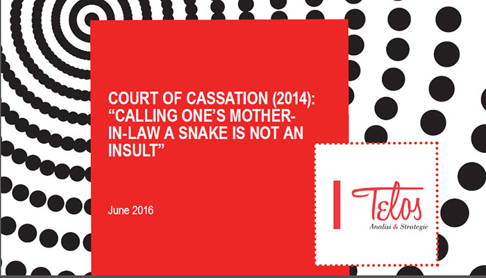"""Court of Cassation (2014): """"Calling one's mother-in law a snake is not an insult"""""""