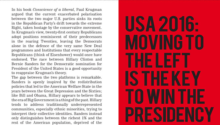 USA 2016: moving to the Left is the key to win the Presidency