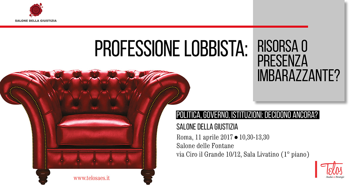 11 April. Profession lobbyist: resource or embarrassing presence?