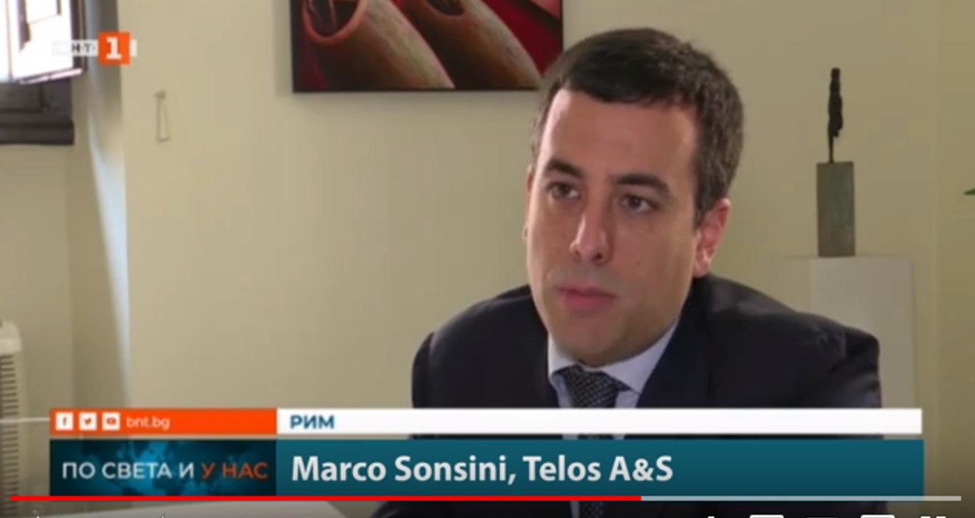 Marco Sonsini intervistato dalla TV bulgara BNT1, alla vigilia delle Elezioni Europee