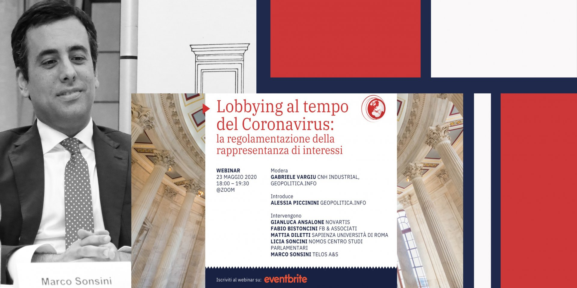 """Marco Sonsini's contribution in the webinar """"Lobbying at the time of Coronavirus: regulating the representation of interests"""""""