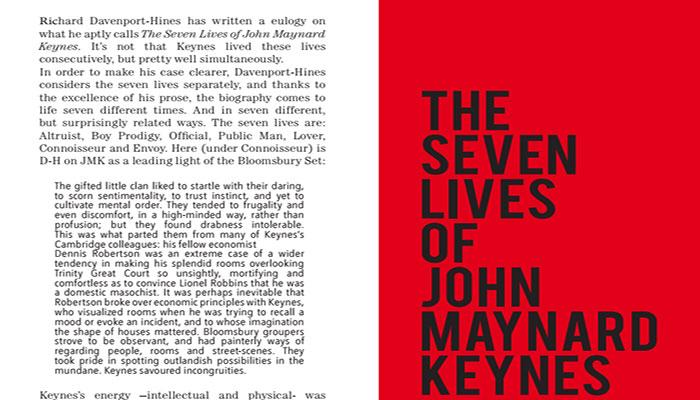 The Seven Lives of John Maynard Keynes -Le sette vite di John Maynard Keynes, una biografia che non parla di economia