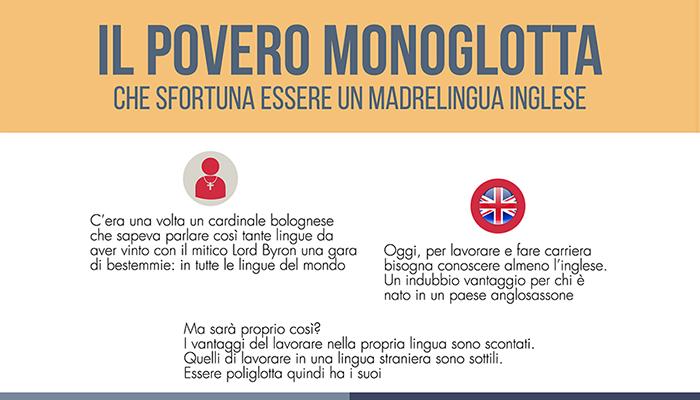 Il povero monoglotta - che sfortuna essere madrelingua inglese