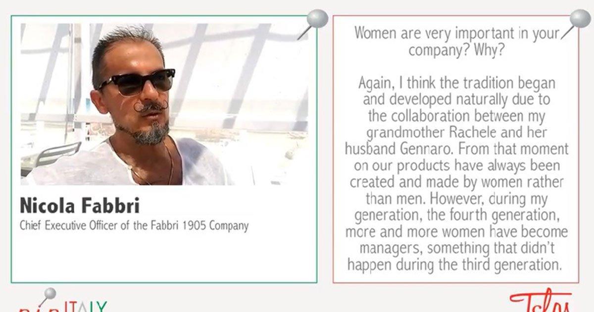 Intervista a Nicola Fabbri: come si porta avanti un'azienda di famiglia