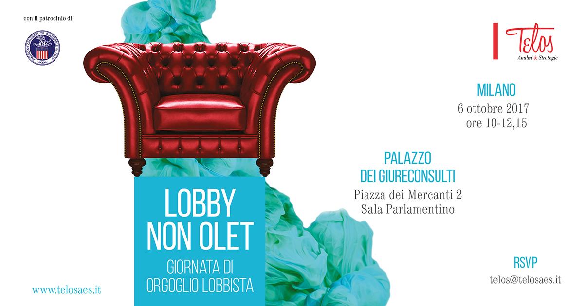 """Giornata di orgoglio lobbista: """"Lobby non olet"""""""