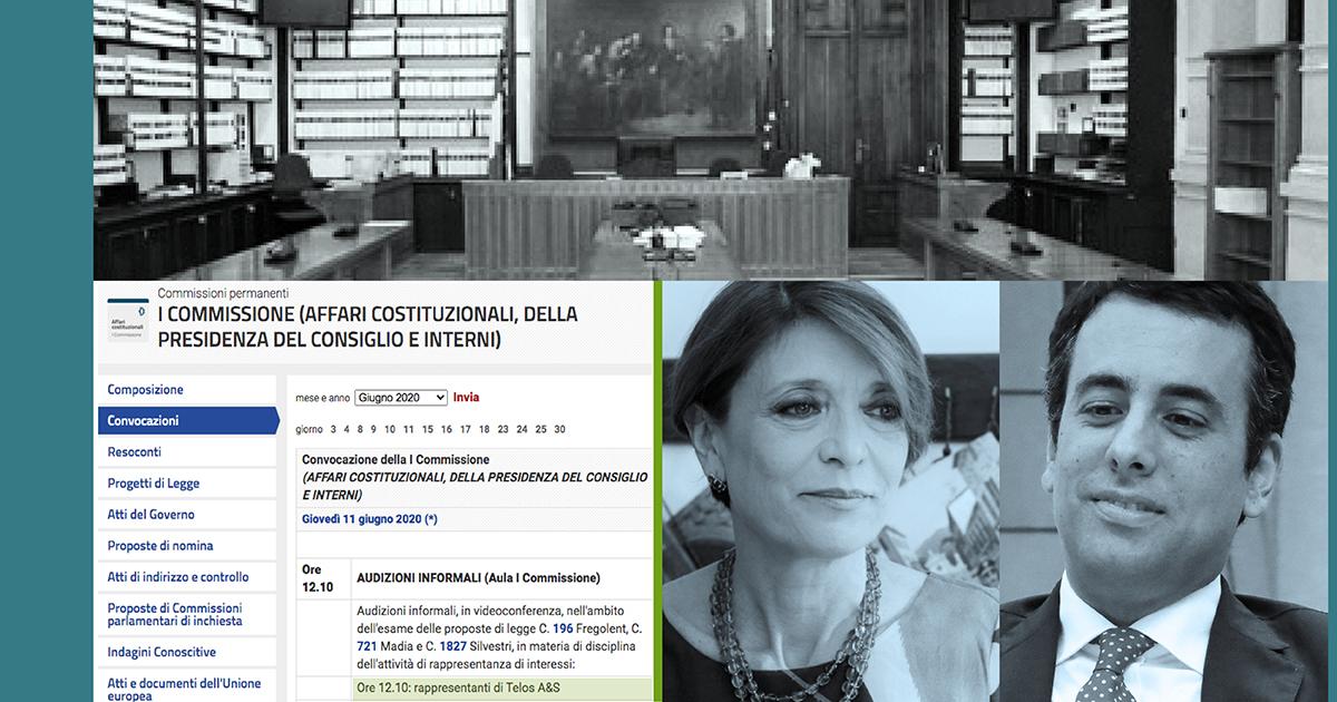 Camera dei Deputati. Audizione di Telos A&S sulla regolamentazione della rappresentanza di interessi